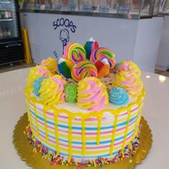 Whimsical Drip Cake