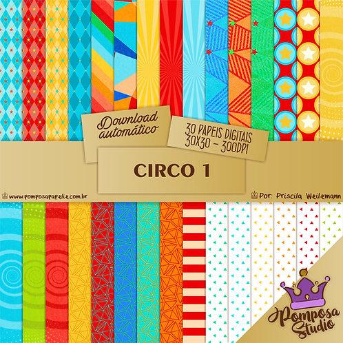 Kit papeis digitais - Circo 1