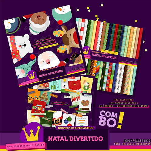 Kit digital • Combo Natal divertido
