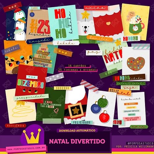 Kit digital • Natal divertido • Cartões, tirinhas e fitinhas