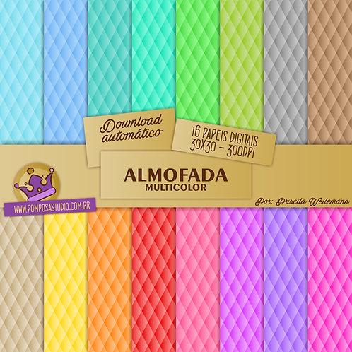 Kit papeis digitais - Almofada Multicolor
