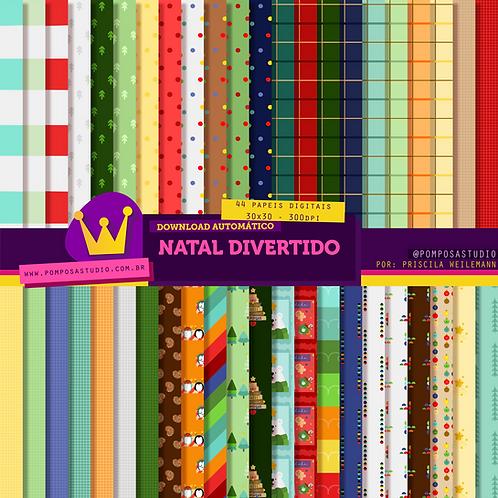 Kit digital • Natal divertido • Papeis digitais