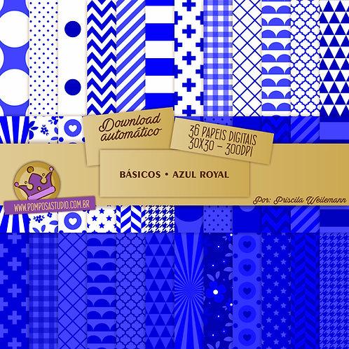 Kit papeis digitais - Coleção Básicos • Azul Royal