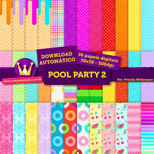 Kit papeis digitais - Pool Party 2