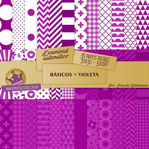 Kit papeis digitais - Coleção Básicos • Violeta