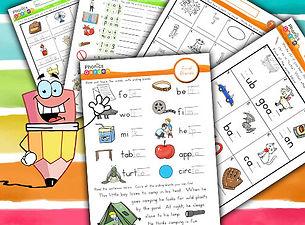 Phonics Worksheets | CVC | Magic E | Bossy R | Letter Blend | Digraph | Phonics Garden
