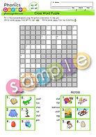 Word family ed eg ell em - Cross Word Puzzle