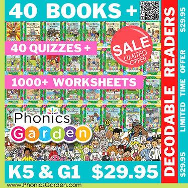 40 PDF Readers BUNDLE Phonics Garden SALE.jpg