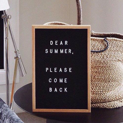 12x18 Felt Letter Board|Oak Frame Letterboard