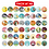Thumbnail: Massive Pack of 48 Baby Stickers, Baby Monthly Stickers, Milestone Baby Stickers