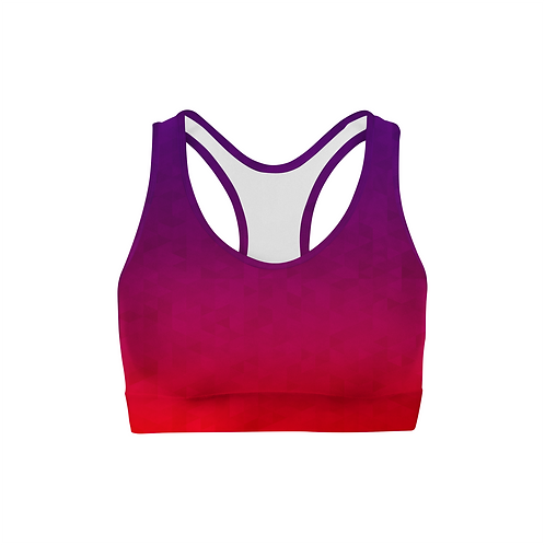 Stained Triangles Color Back Sports Bra