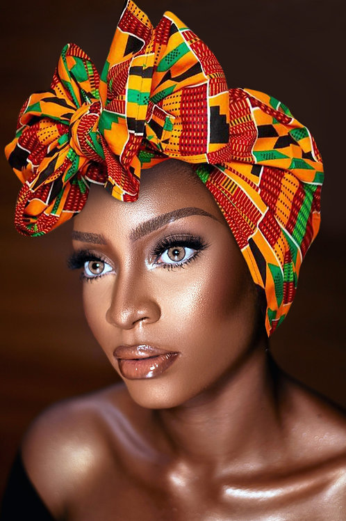 "KENTE Cloth Extra Long 72""×22"" Headwrap ANKARA Dashiki African Print Wrap/Scarf"