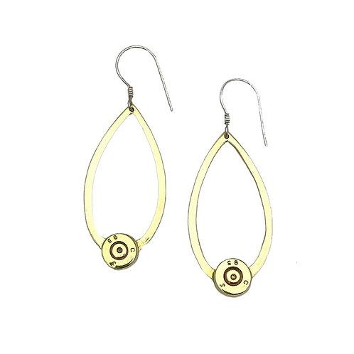 Lotus Leaf Bullet Earrings