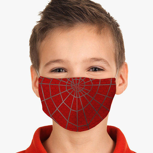 Youth Red Spider Web Face Cover