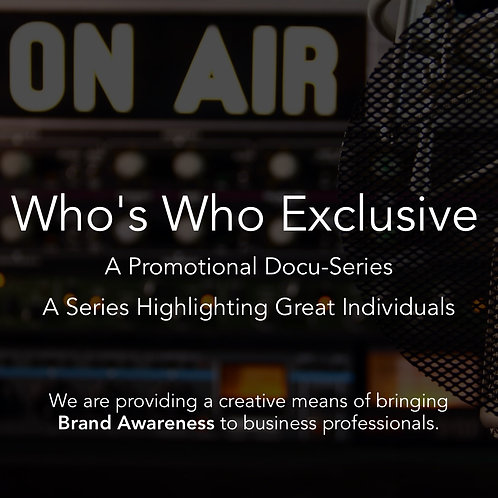 Who's Who  Exclusive Audio Docu-Series