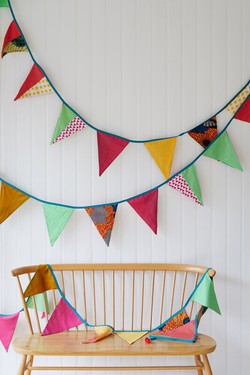 Frances's bunting and chair
