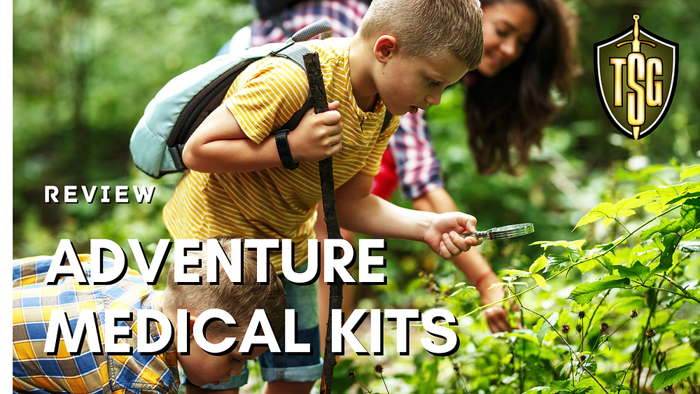 Family medical kit for backpacking