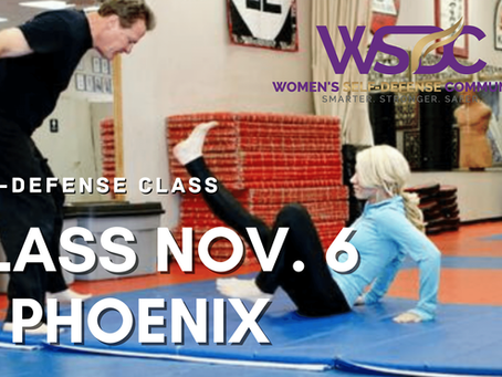 Nov. 6 Phoenix Class for Women's Self-Defense