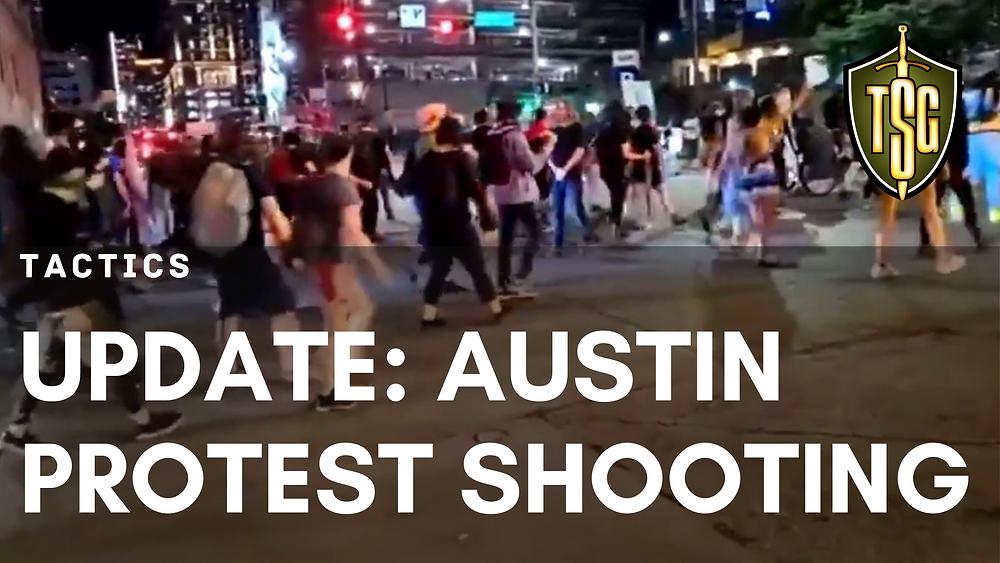 self-defense shooting at Austin protest
