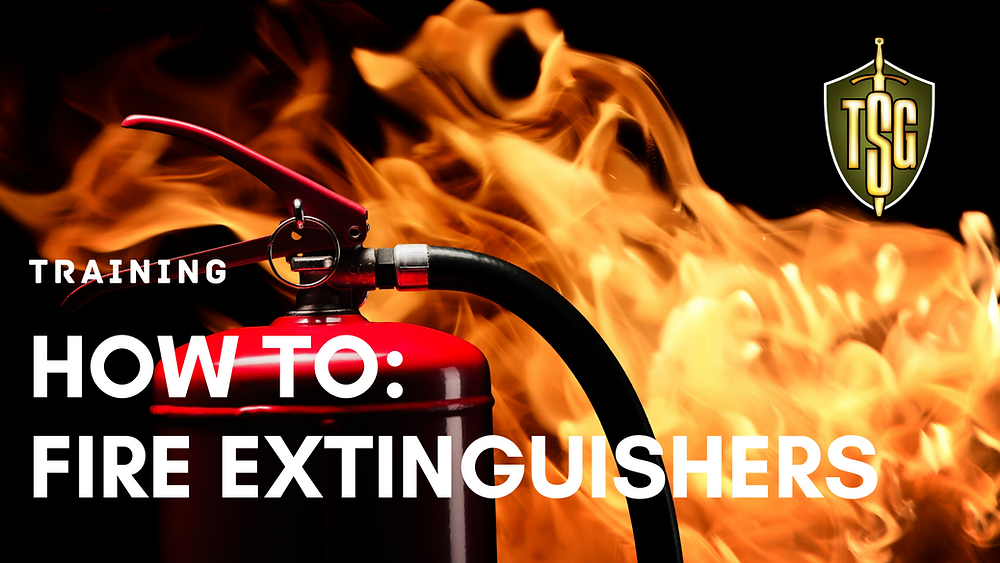 fire extinguisher with fire