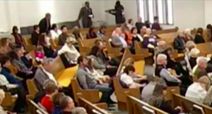 Screen capture from video of Texas church shooting in White Settlement