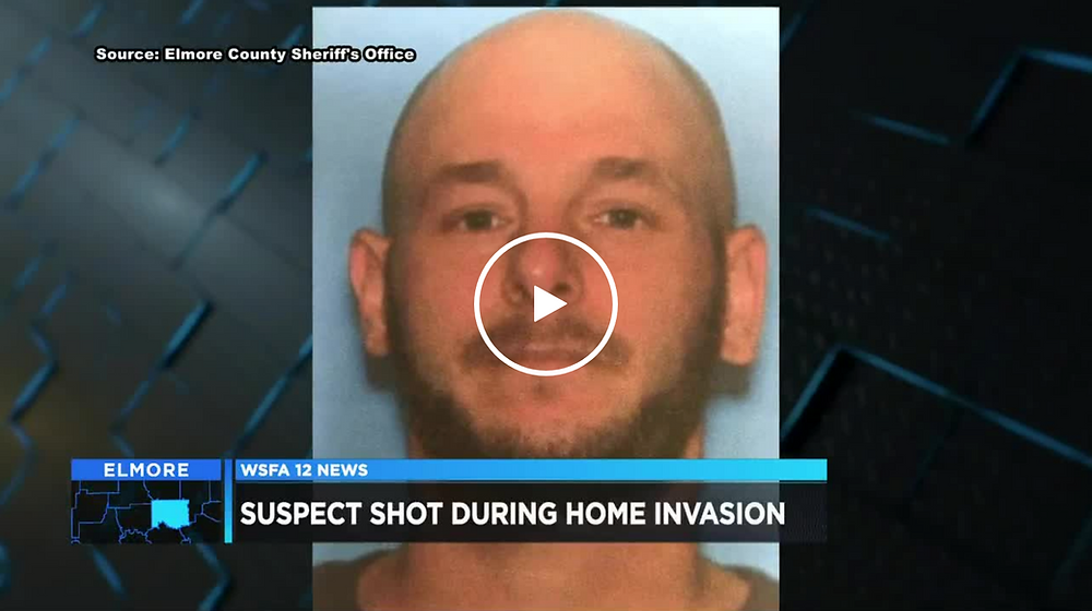 Mug shot of home invader shot by young father in Alabama