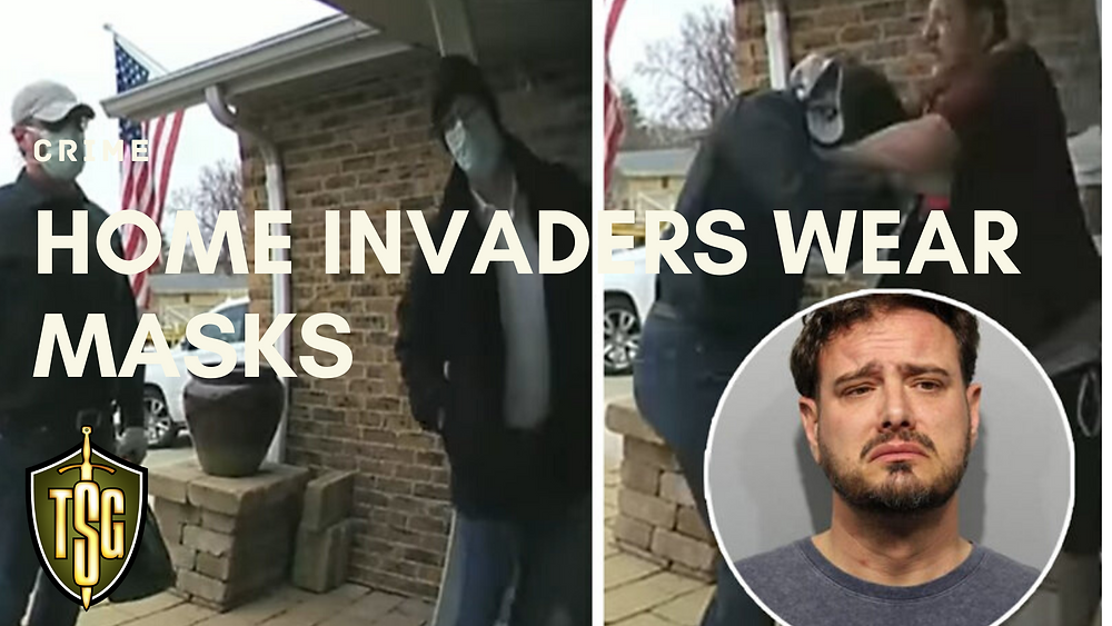 Video frames showing home invaders in Arlington Heights  wearing masks