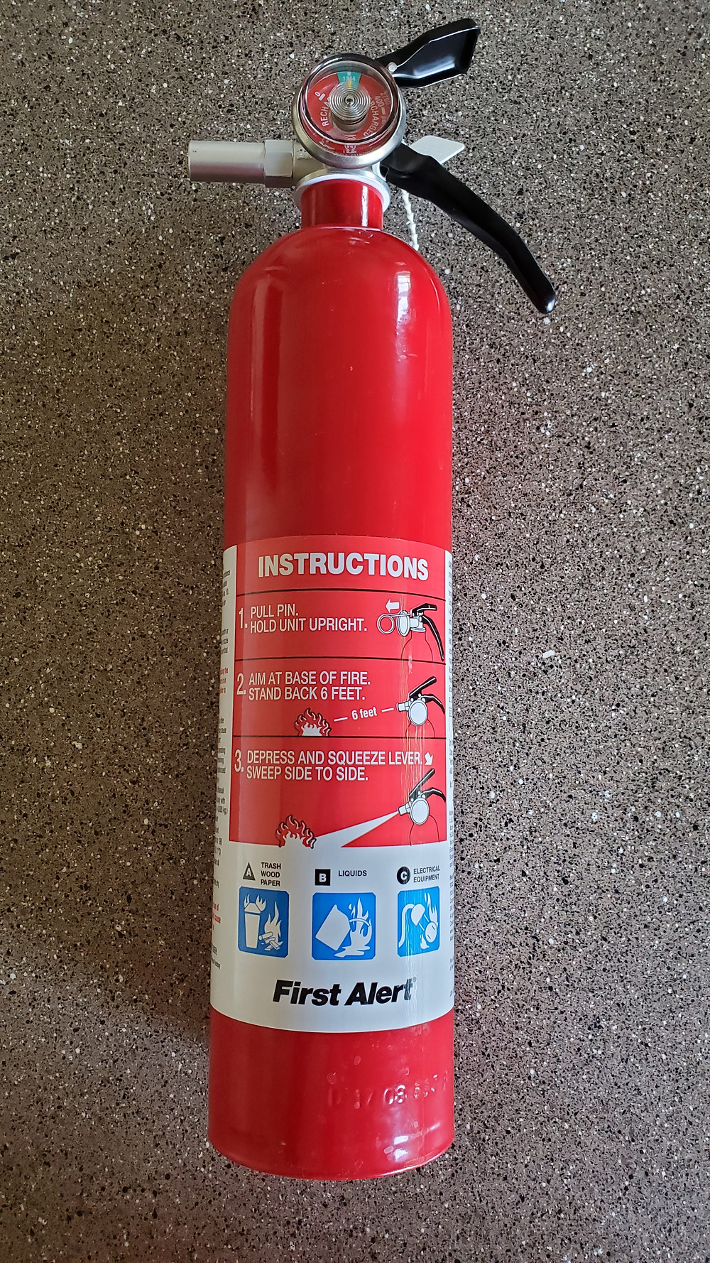 ABC combination fire extinguisher