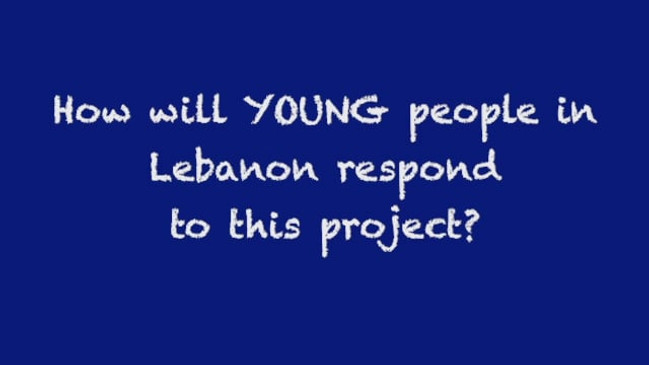 How will young people in Lebanon respond to this project?