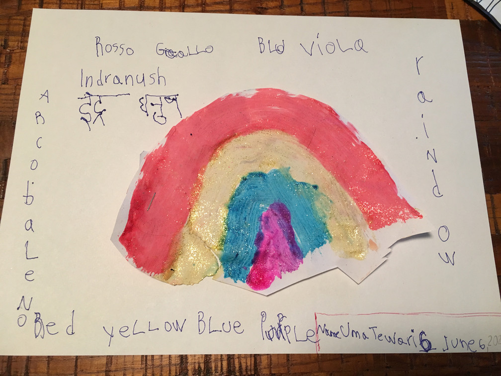 Uma Tewari (aged 6) from New Jersey, USA