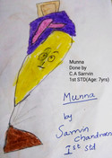Sarrvin C. (aged 7) from Chennai, India