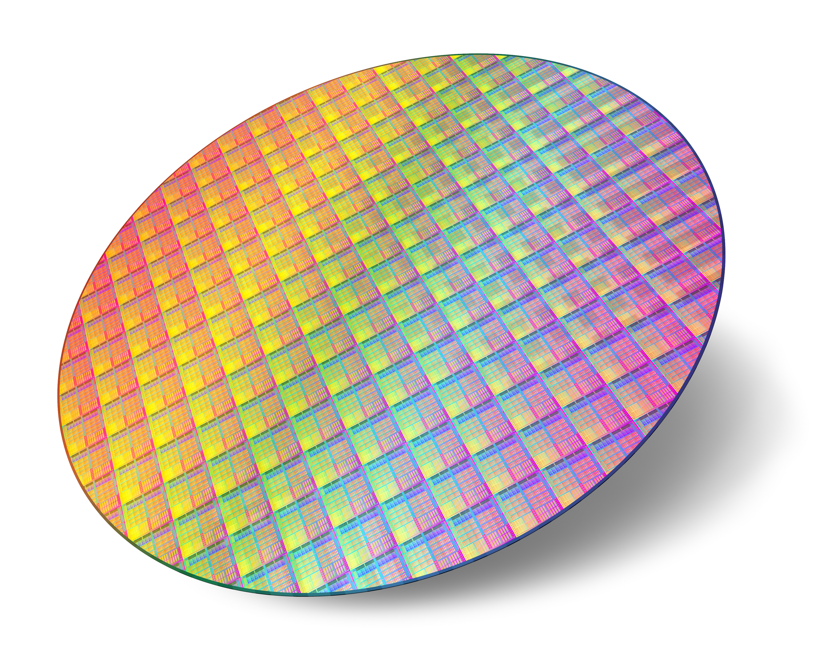 Silicon wafer with processors