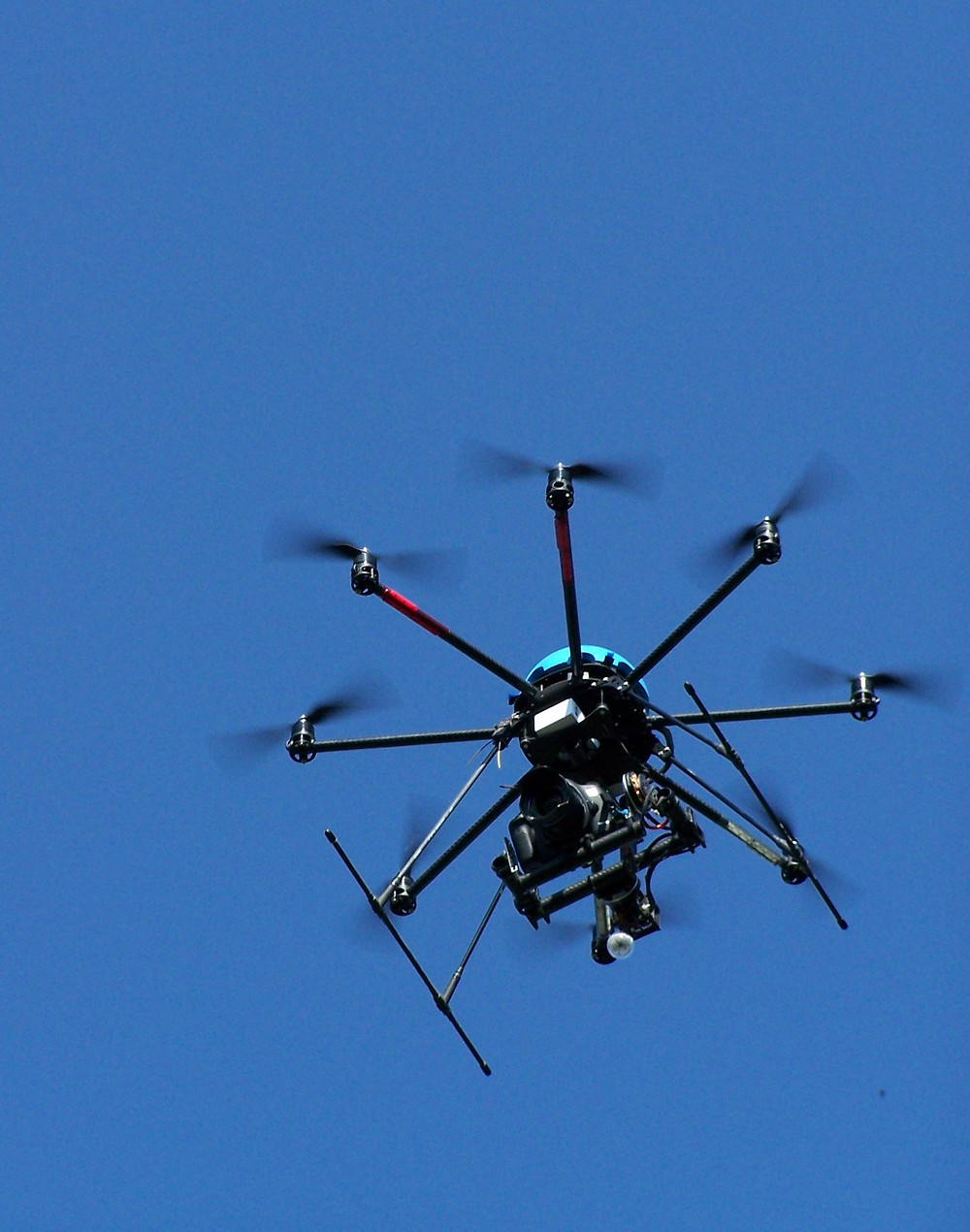 Kamera-Kopter für Luftbildaufnahmen