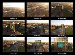 Kontaktabzug von Luftbildern