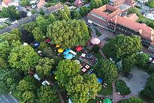 Luftaufnahme eines Events