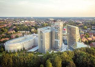 Luftaufnahme der Konzernzentrale der LVM Versicherungen Münster
