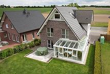 Luftaufnahme eines Eigenheims