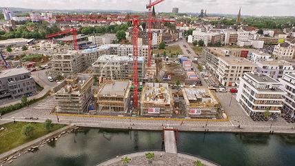 Luftbild Großbaustelle