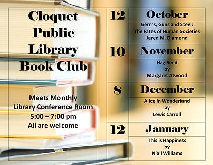 Cloquet Public Library Book Club