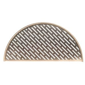 Half-circle shaped metal grate for Kamado Joe grill