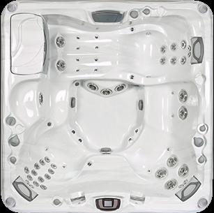 White and silver Cameo 880 Series sundance spa hot tub