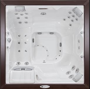white and brown Victoria Sundance Spa hot tub