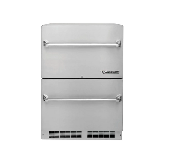 "24"" Outdoor Two Door Refrigerator"