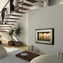 Square Gas Fireplace
