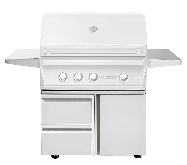 """36"""" Grill Base with Storage Drawers and Single Door"""