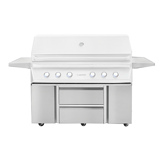 """54"""" Grill Base with Storage Drawers and Two Doors"""
