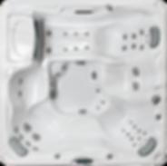 White marble and silver Hamilton Sundance Spa 780 series hot tub