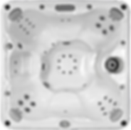 White marble and silver Sundance Spa 680 series McKinley hot tub