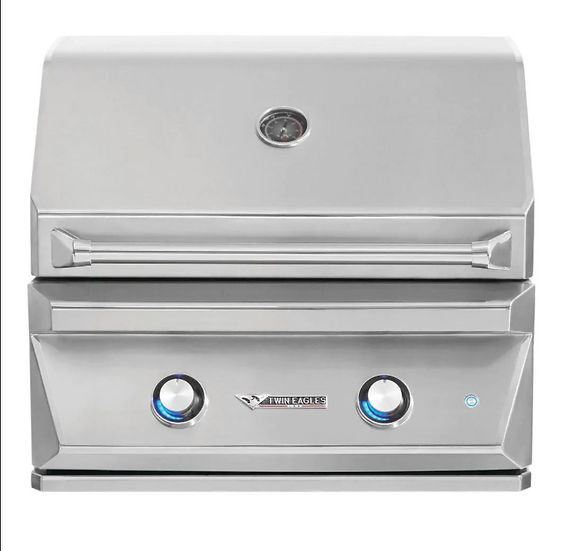 "30"" 2-Burner Built-In Natural Gas Grill with Infrared Rotisserie"