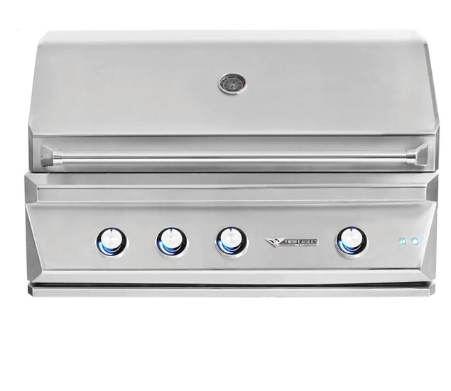 "42"" 3-Burner Built-In Natural Gas Grill with Infrared Rotisserie Burner"